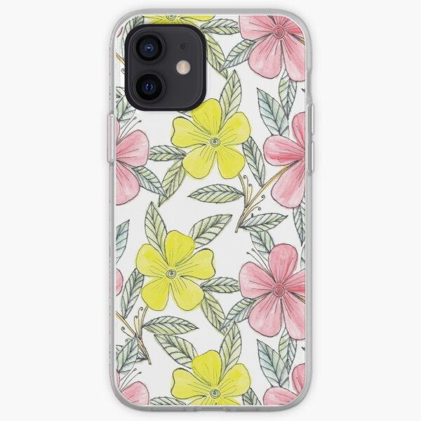 Hand painted flowers iPhone Soft Case