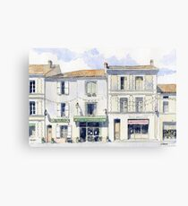 View from the Place de Tilleuls, Montbron, France Canvas Print