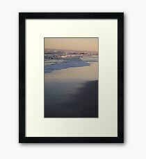 Sunset in Long Beach Framed Print