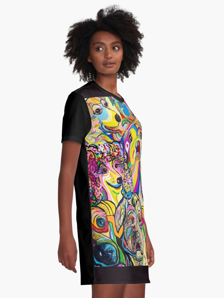 Alternate view of Dogs, Dogs, DOGS! Graphic T-Shirt Dress