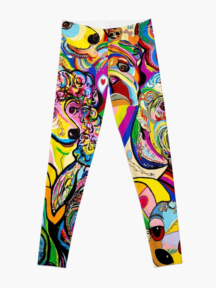 Alternate view of Dogs, Dogs, DOGS! Leggings