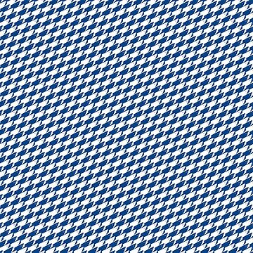 Sharkstooth Sharks Pattern Repeat in White and Blue by podartist