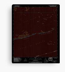 USGS TOPO Map Louisiana LA Eastern Isles Dernieres 331901 1994 24000 Inverted Canvas Print