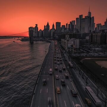 Lower Manhattan at sunset, New York by mattmacpherson