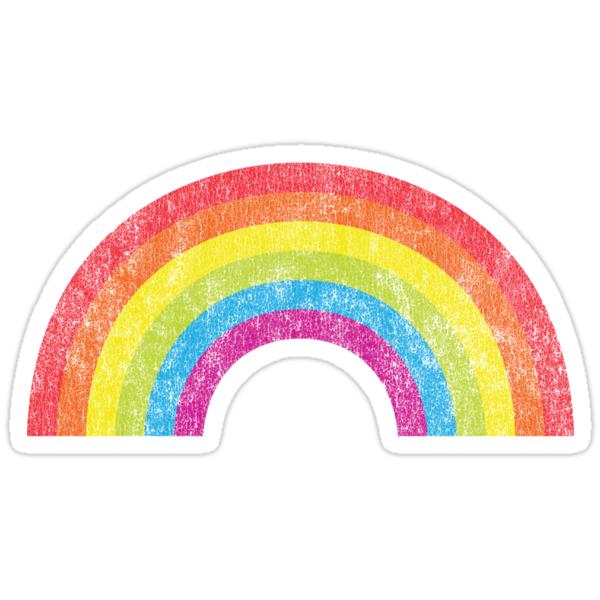 Vintage Rainbow Stickers By KimberlyMarie