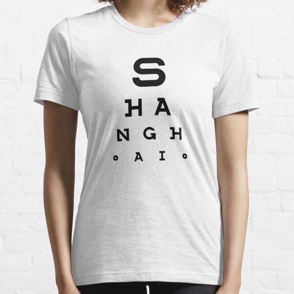 Shanghai - Eye Test Chart Essential T-Shirt
