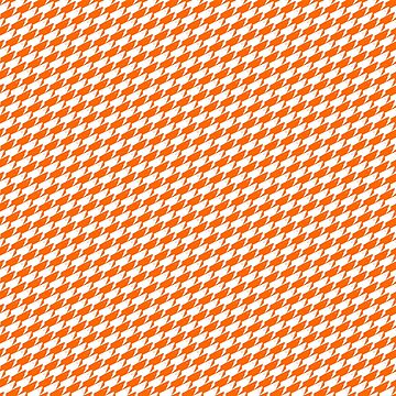 Sharkstooth Sharks Pattern Repeat in White and Orange by podartist
