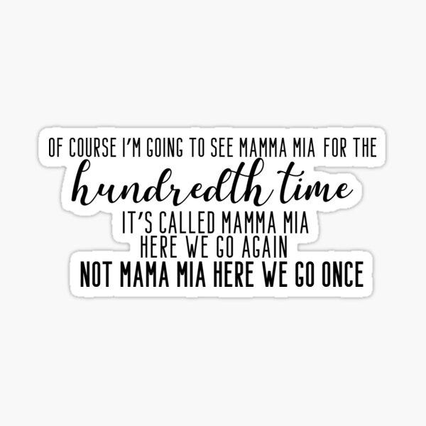 Mamma Mia  Sticker