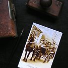 Past and present vintage post card by patjila