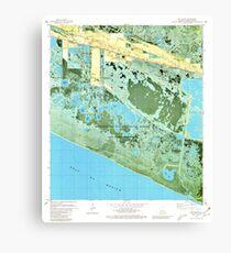 USGS TOPO Map Louisiana LA Cow Island 331769 1979 24000 Canvas Print