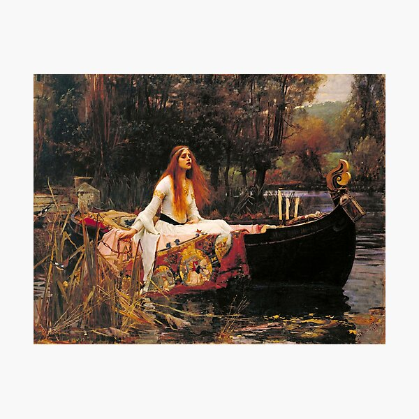 The Lady of Shalott by John William Waterhouse (1888) Photographic Print