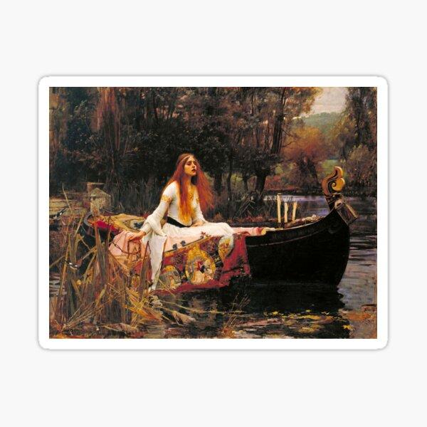 The Lady of Shalott by John William Waterhouse (1888) Sticker