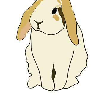 Lop Rabbit - Cute Rabbit - Rabbit Gift - Gift For Rabbit Lovers - Rabbit Shirt - Rabbit Painting - Lop Eared Bunny by Galvanized