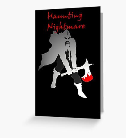 Haunting nightmare t-shirt design Greeting Card