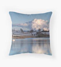 Wimbleball Lake, Somerset Throw Pillow