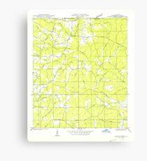 USGS TOPO Map Louisiana LA Crains Creek 333737 1950 31680 Canvas Print