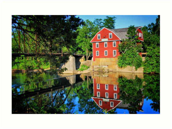 War Eagle Mill and Bridge, Arkansas by Gregory Ballos