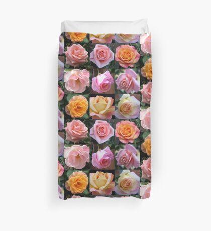 Rosen-Schönheits-Collage Bettbezug