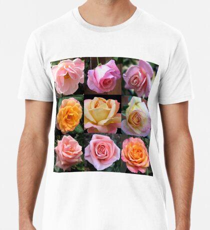 Rosen-Schönheits-Collage Premium T-Shirt