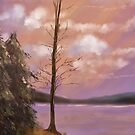 The Bare Tree At Sunset by Lois  Bryan