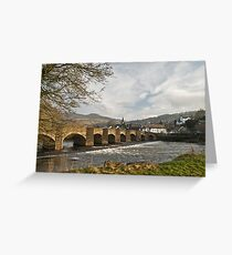 The River Usk, Crickhowell Greeting Card