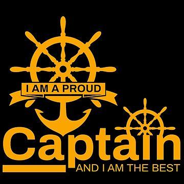 Captain sailor steering wheel navigator commander anchor gift by design2try