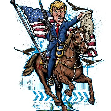 Epic President Donald Trump Warhorse Freedom USA Flag Shirt by tronictees