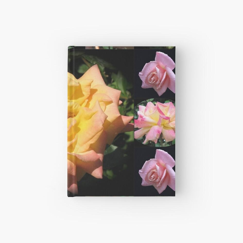 Sommer-Rosen-Collage Notizbuch