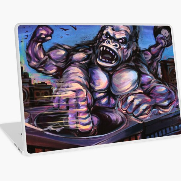 KING QUAD MASSIVE DJ TURNTABLE RECORD VINYL Laptop Skin