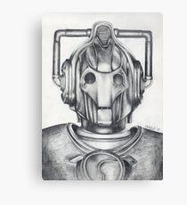 Cyberman Pencil Drawing Canvas Print