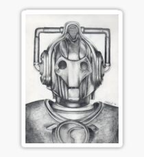 Cyberman Pencil Drawing Sticker