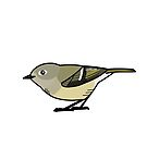 Ruby-crowned Kinglet--STEALTH MODE by KeesKiwi