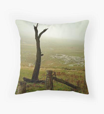 Macendon Ranges,A Damp Foggy Morning Throw Pillow