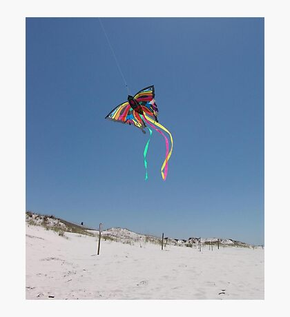Butterfly Kite and Dunes Photographic Print