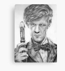 Matt Smith Portrait - 11th Doctor Canvas Print