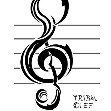Tribal Clef by BartsGeekGifts