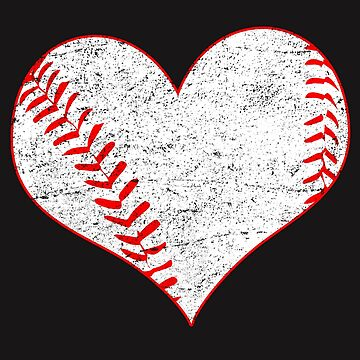 Heart Softball Valentines Day T shirt by 3familyllc