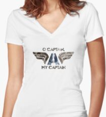 O' Captain Women's Fitted V-Neck T-Shirt