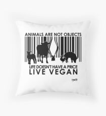 VeganChic ~ Animals Are Not Objects Throw Pillow