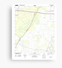 USGS TOPO Map Louisiana LA Crew Lake 20120404 TM Canvas Print