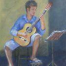 Guitar Serenade by JayteesArt