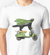 Honey Badger on Vespa Unisex T-Shirt
