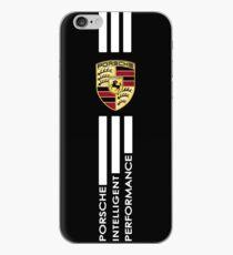porsche logo cara automotif speed sticker iPhone Case