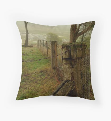 Mist and Dew Throw Pillow