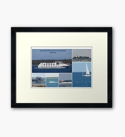 Boats Collage Framed Print