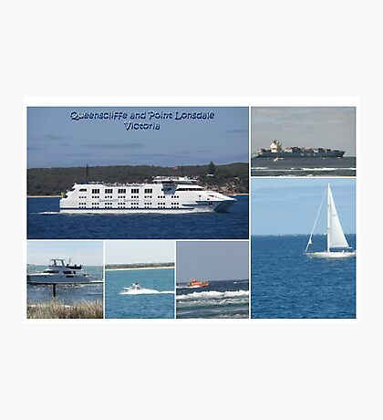 Boats Collage Photographic Print