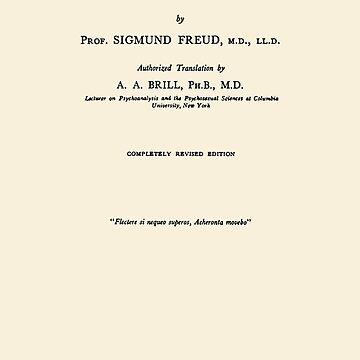 The Interpretation of Dreams Sigmund Freud Title Page by buythebook86