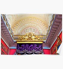 Ceiling in the Hermitage Museum Russia Poster