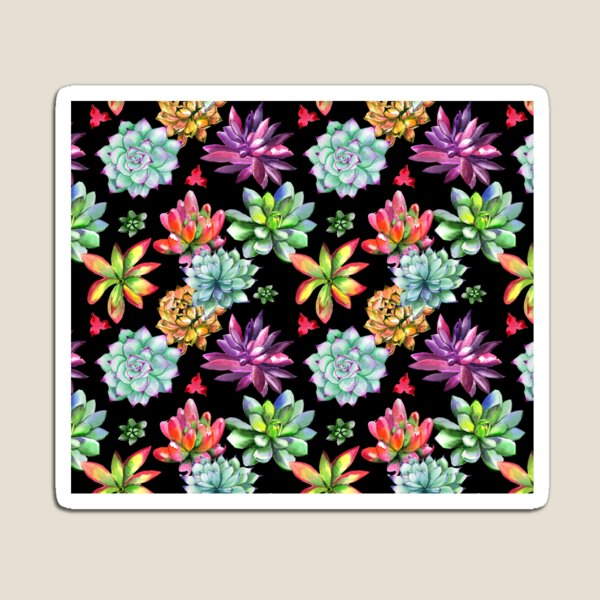 Colorful Succulent Desert Flowers Magnet