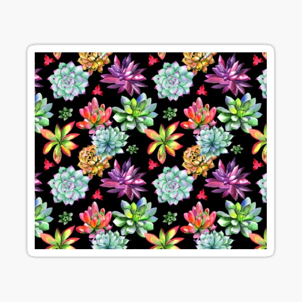 Colorful Succulent Desert Flowers Sticker